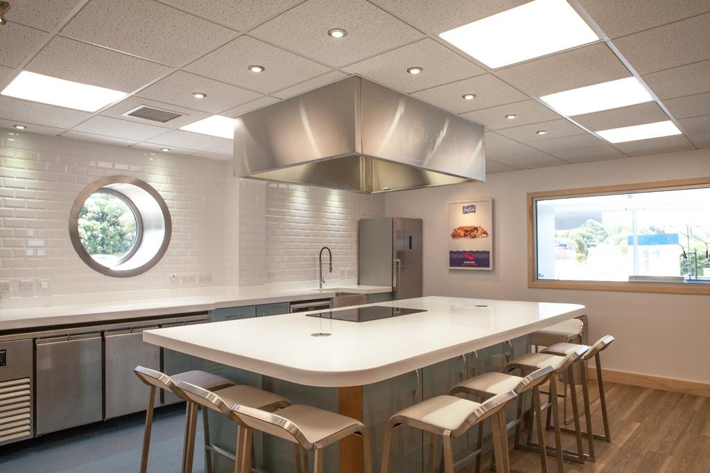 Demonstration Kitchen falfish, demonstration kitchen & client hospitality room - gloweth
