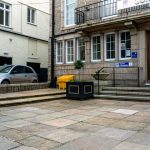 Guildhall before access improvements, St Ives, Cornwall