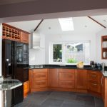 Lanmore house, kitchen at Lanner, Cornwall
