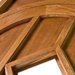 Detail of oak door created by Gloweth joinery department