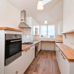 Kitchen in house on narrow plot, St Ives, Cornwall