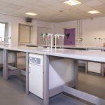 Truro College laboratory, sinks, Cornwall