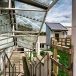 Truro College lift, upper walkway view