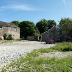 Trevorva Barns prior to construction beginning, Probus, Truro, Cornwall