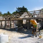 Trevorva Barns under construction, Probus, Truro, Cornwall