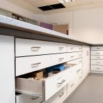 Truro College laboratory cabinets drawers close-up