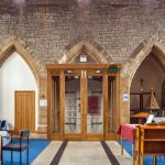 All Saints Church - Falmouth / New oak internal porch / from front