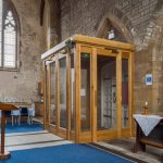 All Saints Church - Falmouth / New oak internal porch / from right side