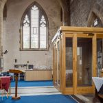 All Saints Church - Falmouth / New oak internal porch / from full on right side