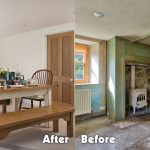 Alsia Mill - Dining Room Before and After